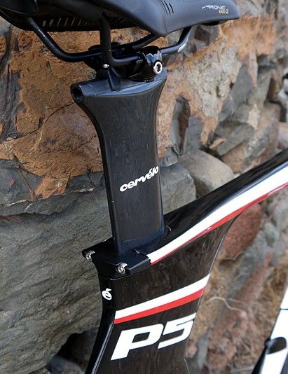 The seat post is classic Cervelo