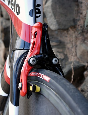 The UCI legal version of the Magura RT8 TT front brake