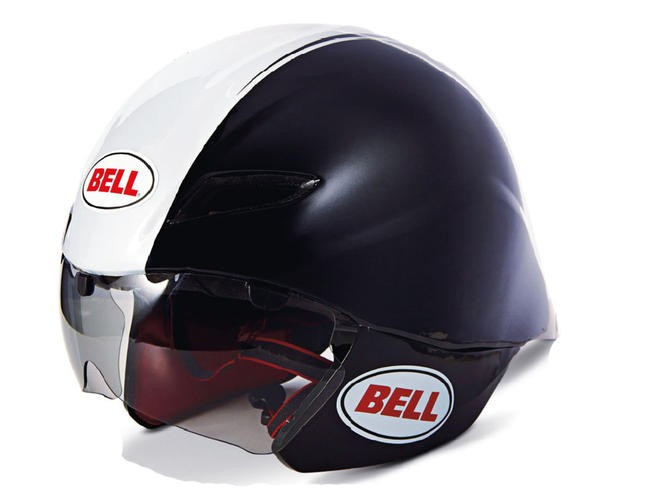 Bell are looking to emerge from the shadows of Giro for 2013. This is their new Javelin time trial lid