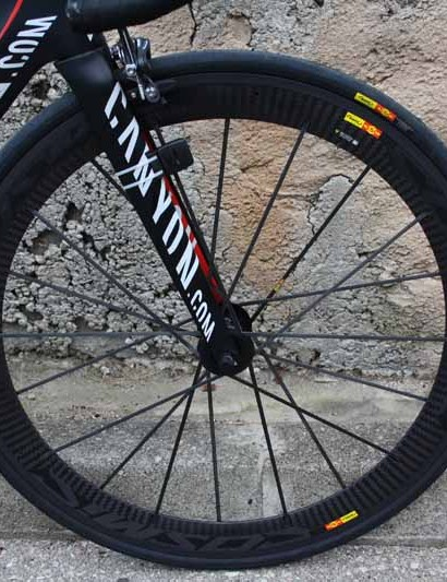 Most amateurs would be thrilled to race on Mavic Cosmic Carbone SLR clinchers but Katusha will only use them for training