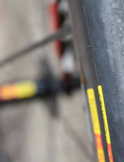 Katusha team bikes are equipped with Mavic clincher wheels and tires for training