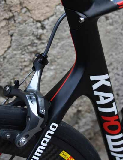 The Aeroad CF uses a more compact rear triangle than Canyon's more traditionally shaped Ultimate CF SLX