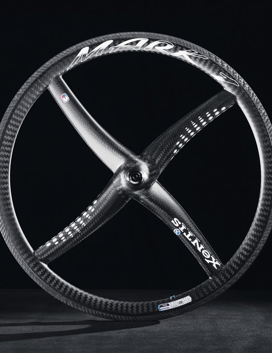 XeNTiS's original MARK1 quad-spoke design is available in both clincher and tubular versions, priced at £1,099 for the rear and £999.99 for the front