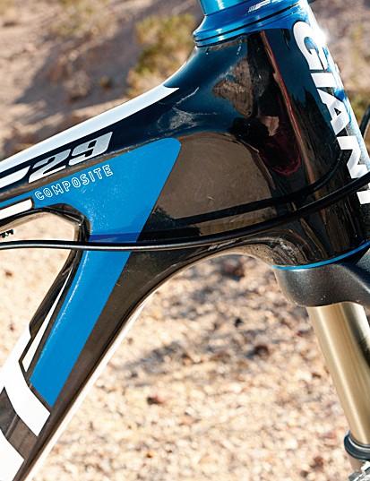 Chunky composite frame soaks up trail shocks