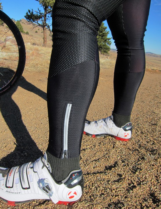 Ankle zippers make it easier to get the tights on and off while a little reflective detailing helps with nighttime visibility