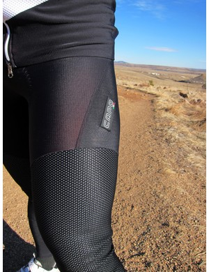 Capo uses several different materials for the Padrone Winter Tights - some with more stretch, some with more protection from weather