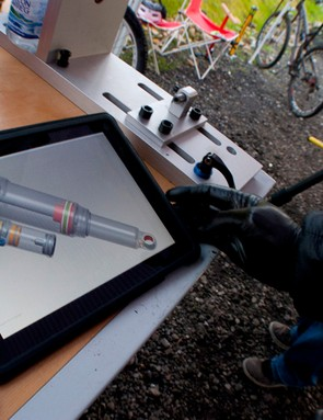 An iPad app helps with the tuning of all RockShox suspension