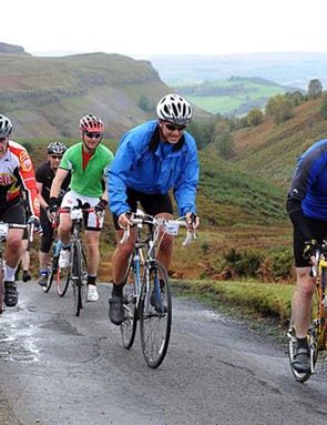 The Etape Cymru takes place in the hilly North Wales countryside