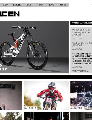 The brand-spanking new Saracen website