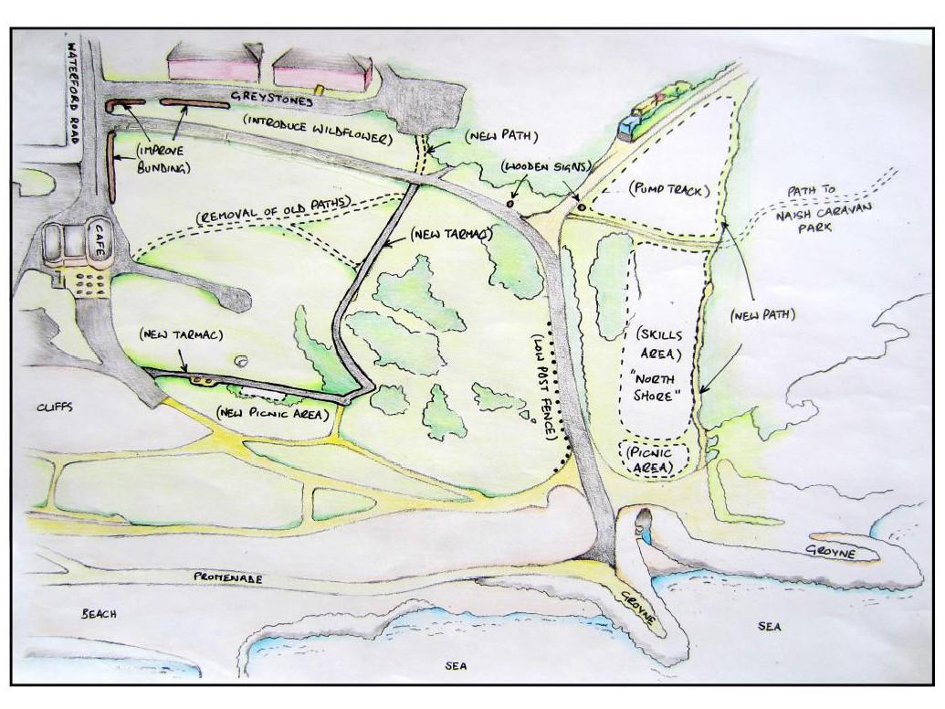 An artists impression of South Shore Bike Park