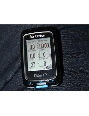 Bryton Rider 40 GPS computer