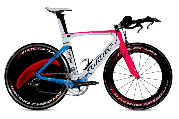 The Wilier TwinFoil in Team Lampre-ISD colours