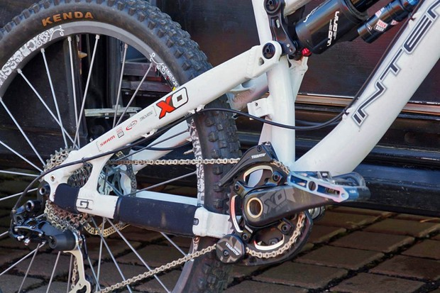 SRAM posted this photo on their Facebook page showing a new prototype rear derailleur