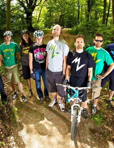 Dom Mason with the Kinesis Morvélo Project crew