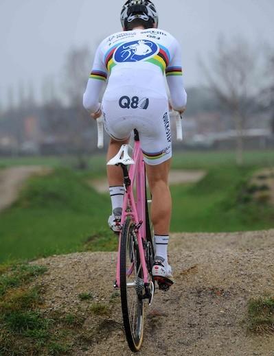 A pretty common sight in the cyclo-cross peloton
