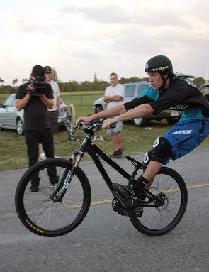 The teenager credits BMX racing for his exceptional manuals