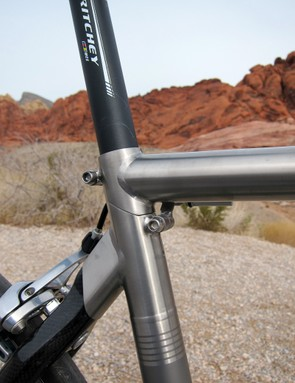 The seat cluster is essentially held together by the seatpost, which is separately clamped by each frame section