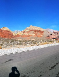 Calico Basin, shortly after dawn — certainly a more pleasant view than the Las Vegas Strip