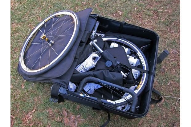 Yep, it all fits in here — quite easily, in fact. We did, however, find the S&S Machine method to be much more efficient than what Ritchey prescribes