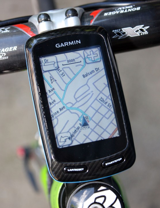 The Garmin Edge 800 offers full-fledged turn-by-turn navigation abilities when you choose a destination on the device itself. When uploading courses from your desktop, though, the results aren't quite as consistent