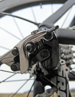 The cable anchor on the rear derailleur is tucked a little tighter into the body for a cleaner look. Carrying over from last year's Red is SRAM's precise Exact Actuation geometry
