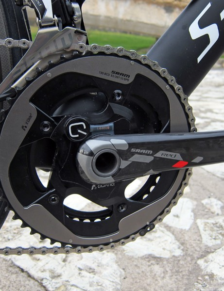 SRAM have now integrated a Red-labeled Quarq power meter into the group for 2013