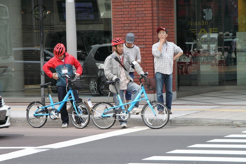 Bike sharing is also undergoing tests in Sapporo