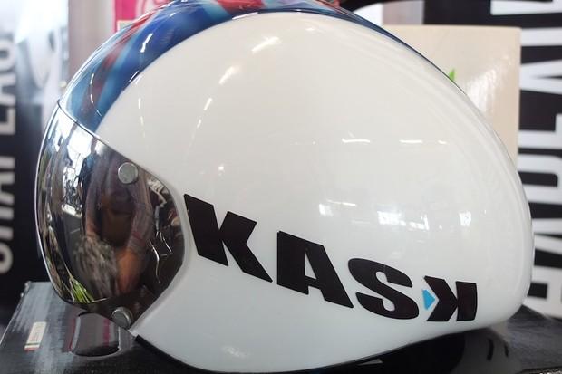 Bradley Wiggins's KASK TT stubby time trial helmet