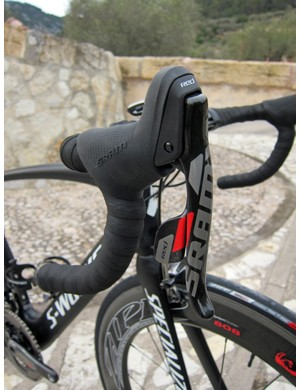 Longer brake lever blades are easier to reach from the drops, especially if you prefer to run your levers higher up on the bars. The bigger bump up top locks the base of your thumb in more securely on rough ground than the current shape and also feels better in your palms when you're really stretched out