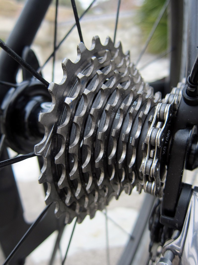 Overall rear shift performance on the new SRAM Red is essentially identical to the old one. Upshifts are slightly quieter and less violent, though, and general drivetrain noise is reduced, too