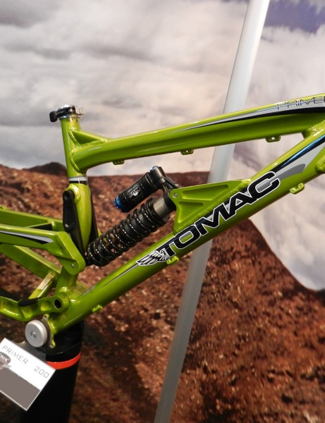 Tomac's new Primer downhill frame was one of the highlights of The Bike Place show