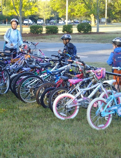 Without Safe Routes to School, this rack might be empty