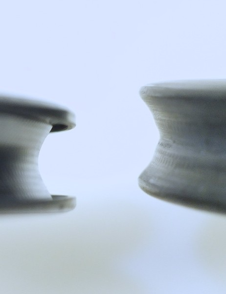This picture shows the width of the Rolf Ares rim, left, compared to their TDF60