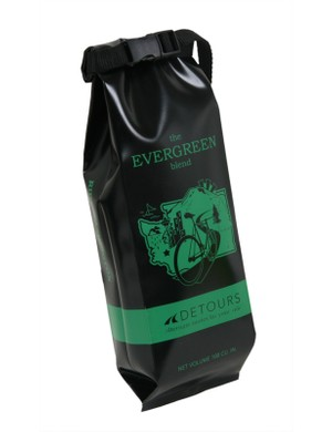 Detours Coffee Bag features a roll top and choice of five mock logos