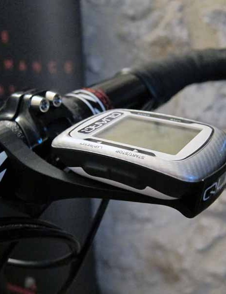 The front plate on Quarq's upcoming Garmin Edge 500, basically, just provides a billboard for the logo