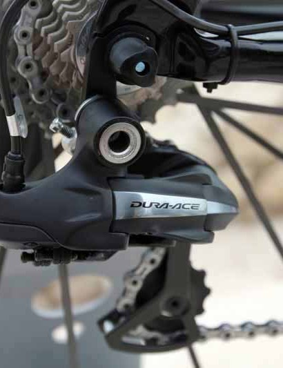 Team bikes are fitted with Shimano Dura-Ace Di2 electronic groups