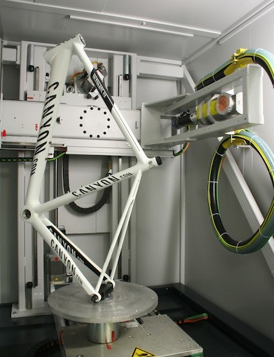 Canyon Bicycles recently took delivery of a new CT (computed tomography) machine that will be used for non-destructive quality control and product development
