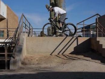 How does a carbon fibre bike respond to stunts?