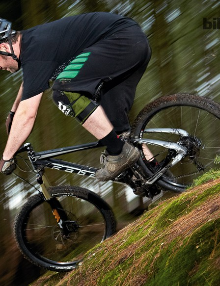 The Virtue offers a confident and capable ride on chunkier trails but with a slight weight penalty