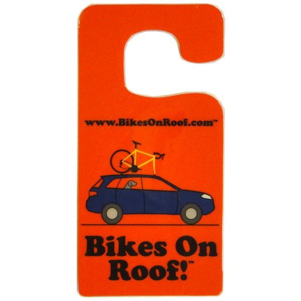 Bikes On Roof is a simple hang tag