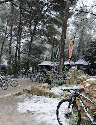 Mallorcan snow greeted our test day