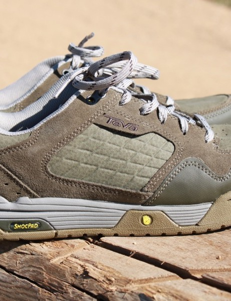 It doesn't draw nearly as much attention as Teva's top-end Links shoes