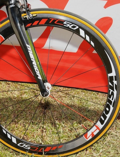 Vision's Trimax Carbon TC50 medium depth wheel