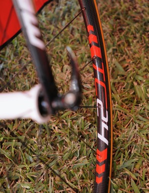 The new TC24 sports a shallow but wide carbon rim