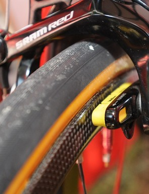 The TC24 rim is 23mm wide at the brake track to equal the tyre width
