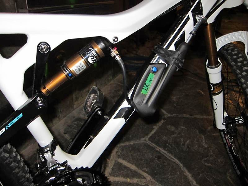 Fox's Smart Pump allows you to set up your suspension using an Android smart phone or Garmin GPS unit