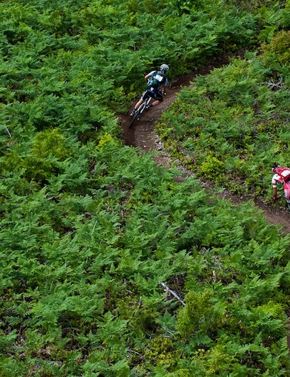 Shredding a ribbon of single track through British Colombia's most picturesque scenery