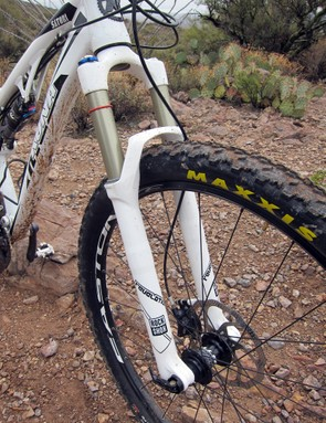 130mm of front and rear travel combined with terrain-flattening 29in wheels makes the new Kona Satori feel like a monster truck on the trail