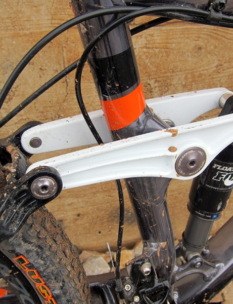 The linkage on the Kona Hei Hei 29 Supreme has been beefed up for 2012