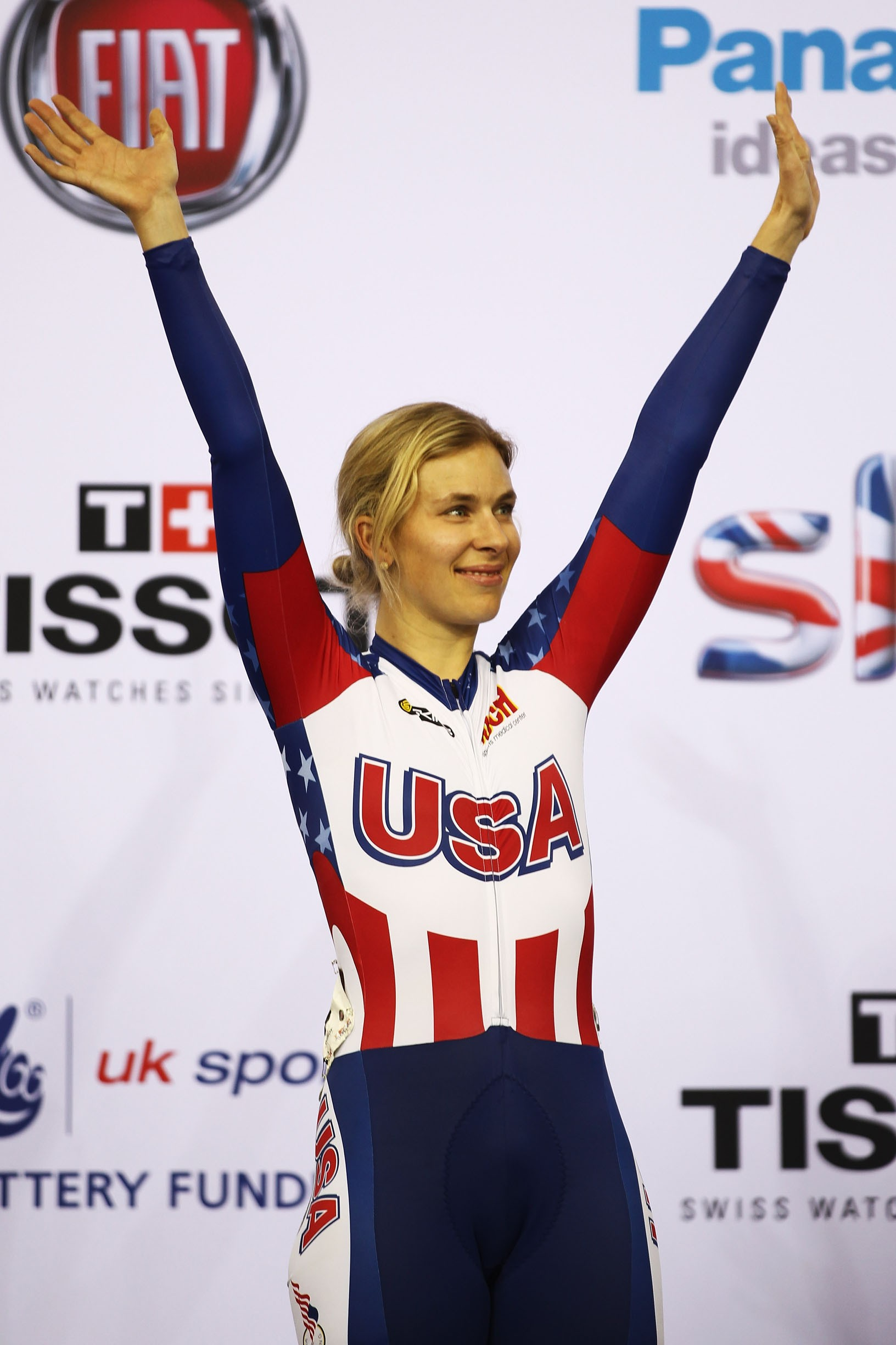 Sarah Hammer won USA's only gold in the women's omnium